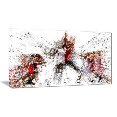 Décoration murale sur toile design art à motif de basketball tir en suspension walmart canada
