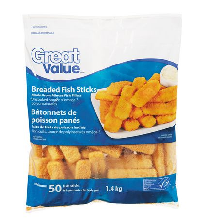 Great value breaded fish sticks walmart canada for How much are fish at walmart