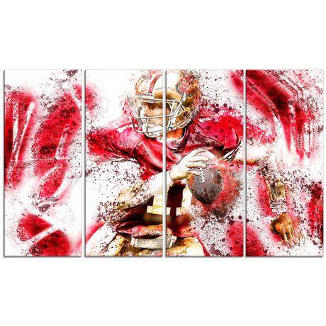D coration murale sur toile design art motif de for Decoration murale walmart