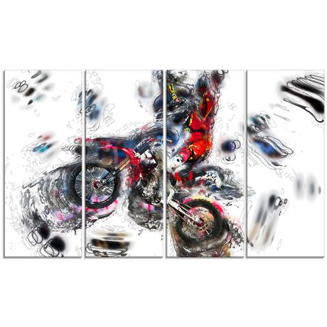 Design Art Moto Cross Sports Canvas Wall Art - image 1 of 3