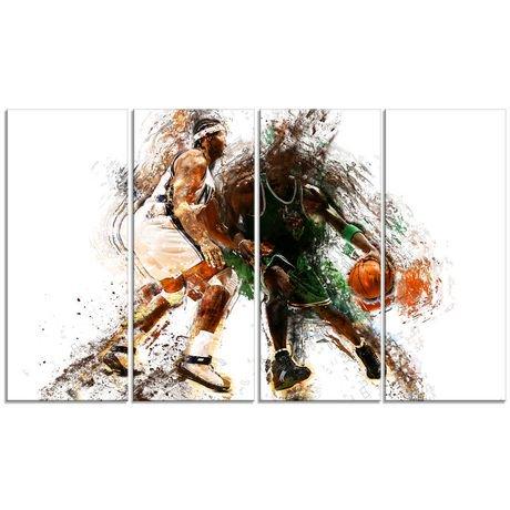 Décoration Murale Sur Toile Design Art à Motif De Basketball En