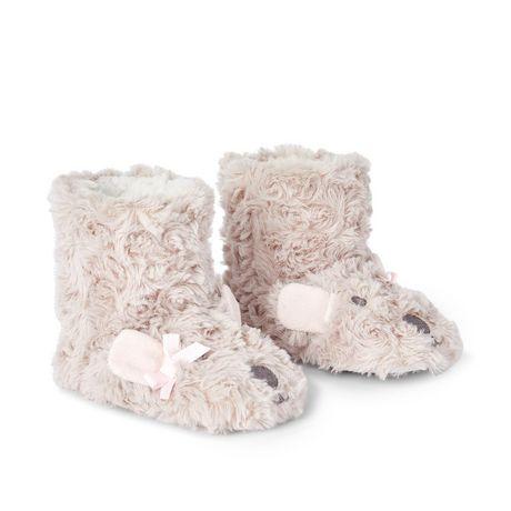 Pantoufles bottines avec fourrure pelucheuse George pour petites filles - image 2 de 4