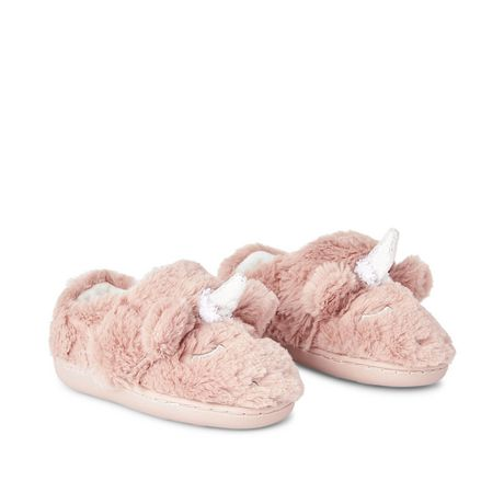 George Toddler Girls' Soft Fur Unicorn Slippers - image 2 of 4