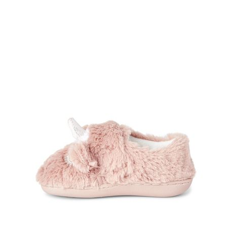 George Toddler Girls' Soft Fur Unicorn Slippers - image 3 of 4