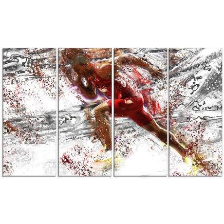 D coration murale sur toile design art motif de equipe for Decoration murale walmart