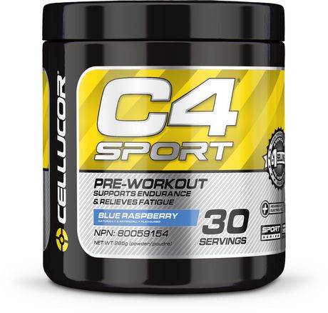 Cellucor C4 Sport Blue Raspberry Concentrated Energy & Performance Powder | Walmart Canada