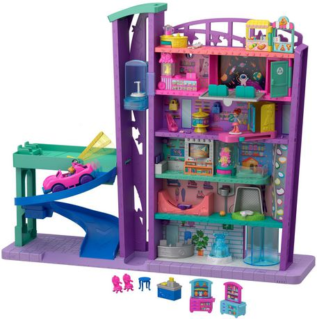 Poly Pocket Pollyville Mega Mall Playset - image 1 of 9