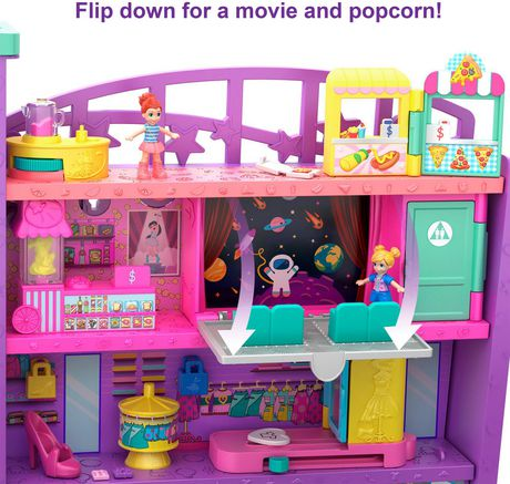 Poly Pocket Pollyville Mega Mall Playset - image 2 of 9