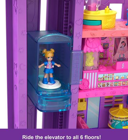 Poly Pocket Pollyville Mega Mall Playset - image 3 of 9