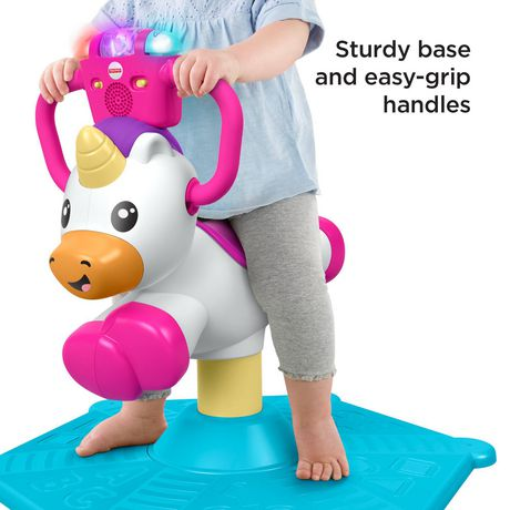 Fisher-Price Bounce and Spin Unicorn Stationary Ride-On Toy, English Version - image 5 of 9