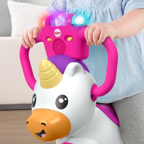 Fisher-Price Bounce and Spin Unicorn Stationary Ride-On Toy, English Version - image 9 of 9