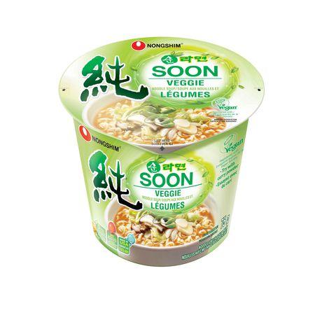 Tasse de soupe aux nouilles et légumes Soon de Nongshim America - image 1 de 2