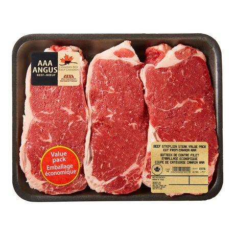 AAA Angus Beef Striploin Steak Value Pack, Your Fresh ...