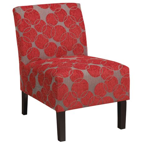 Whi Fabric Red Accent Chair Walmart Canada