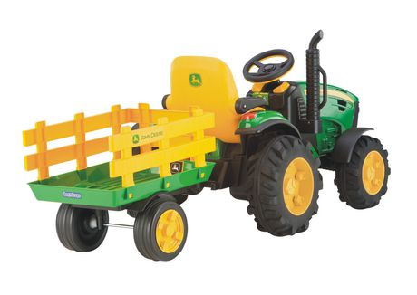 peg perego john deere ground force ride on tractor with. Black Bedroom Furniture Sets. Home Design Ideas