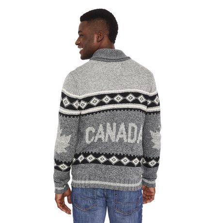 Canadiana Men's Shawl Collar Sweater - image 3 of 6