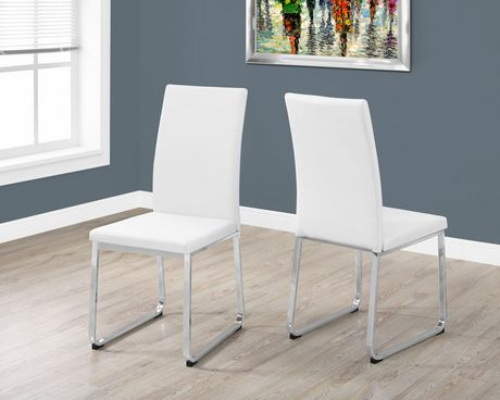 chaise monarch specialties en simili cuir blanc. Black Bedroom Furniture Sets. Home Design Ideas