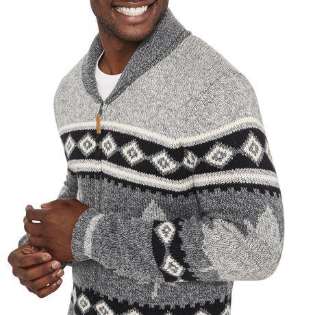 Canadiana Men's Shawl Collar Sweater - image 4 of 6