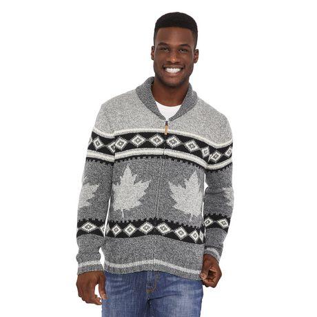 Canadiana Men's Shawl Collar Sweater - image 1 of 6