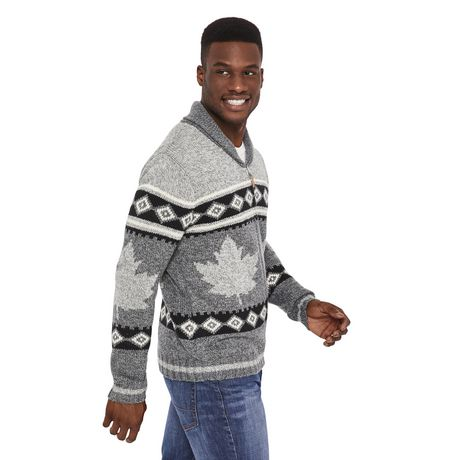 Canadiana Men's Shawl Collar Sweater - image 2 of 6