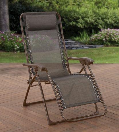 chaise multipositions zero gravit walmart canada