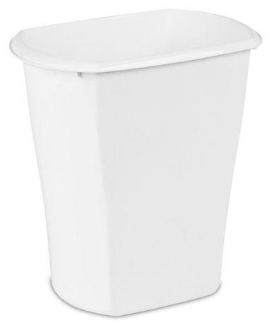 Sterilite 11.4 Liter Rectangular White Wastebasket - image 1 of 2