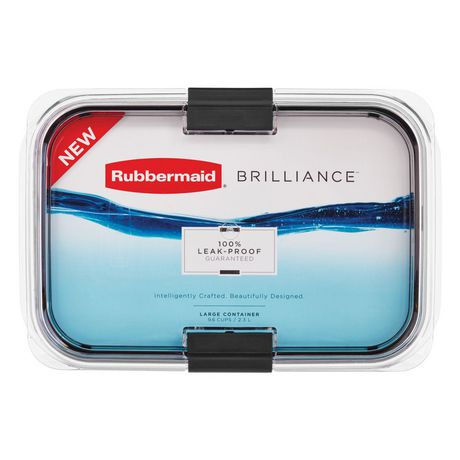 Rubbermaid Brilliance Food Storage Container, Large, 9.6 Cup / 2.3 L | Walmart Canada