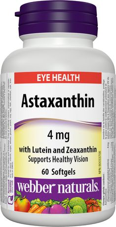 Webber Naturals Astaxanthin with Lutein and Zeaxanthin, 4 mg - image 1 of 4