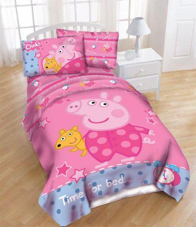 Peppa Pig Twin Size Sheet Set Walmart Canada
