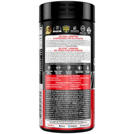 Six Star Pro Nutrition Elite Series Carnitine Capsules - image 2 of 4