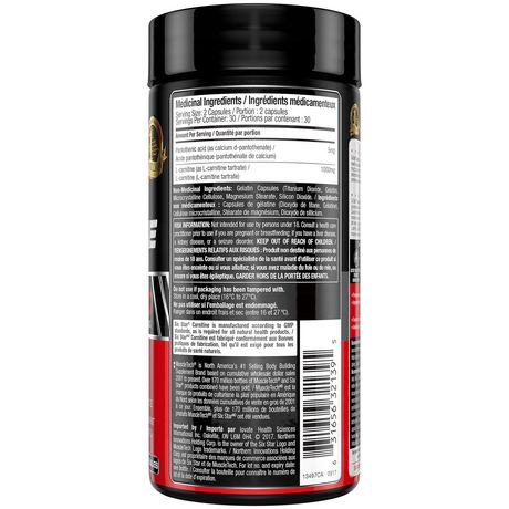 Six Star Pro Nutrition Elite Series Carnitine Capsules - image 3 of 4