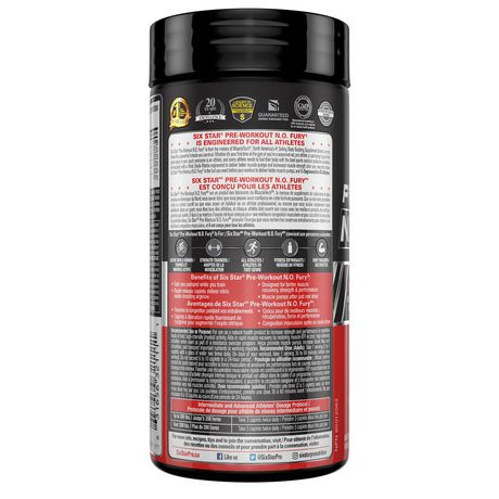 Six Star Elite Series Pre Workout N.O. Fury Caplets - image 2 of 4