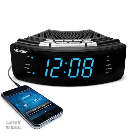 nelsonic dual alarm clock am fm radio walmart canada. Black Bedroom Furniture Sets. Home Design Ideas