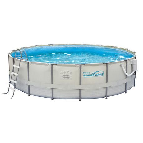 Summer waves elite 15 ft round 48 in deep metal frame for Summer waves above ground pool review