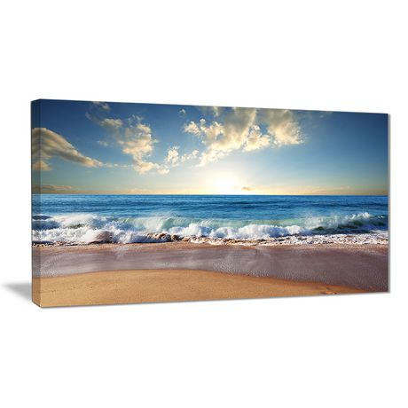 Design Art Sea Sunset Seascape Photography Canvas Art Print - image 1 of 2