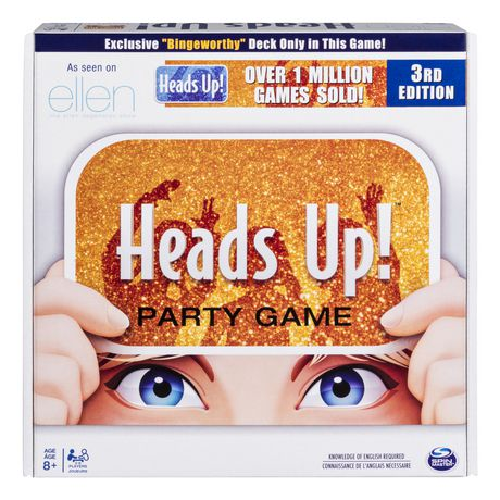 Heads Up! Party Game, Fun Word Guessing Game for Families Aged 8 and Up (Edition May Vary) - image 1 of 2
