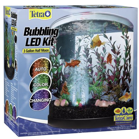 Tetra 3 Gallon Half Moon Fishtank In Many Styles Pet Supplies