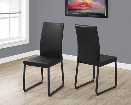 Chaise Monarch Specialties en simili-cuir noir - image 2 de 3