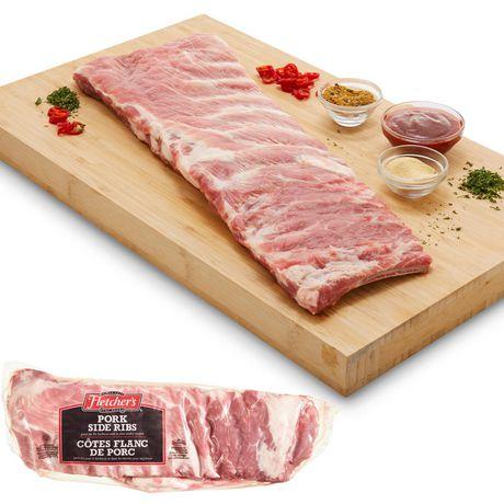 Fletchers Pork Side Ribs, Split, Cryovac - image 1 of 3