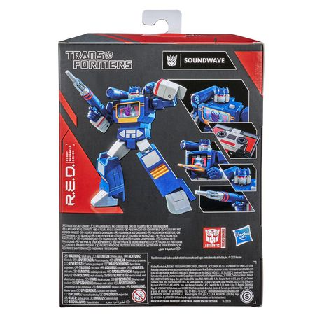 Transformers R.E.D. [Robot Enhanced Design] The Transformers G1 Soundwave, Non-Converting Figure - Ages 8 and Up, 6-inch - image 4 of 7