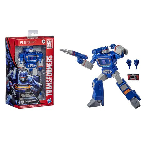 Transformers R.E.D. [Robot Enhanced Design] The Transformers G1 Soundwave, Non-Converting Figure - Ages 8 and Up, 6-inch - image 3 of 7