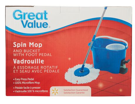 Great Value Spin Mop And Bucket With Foot Pedal Walmart