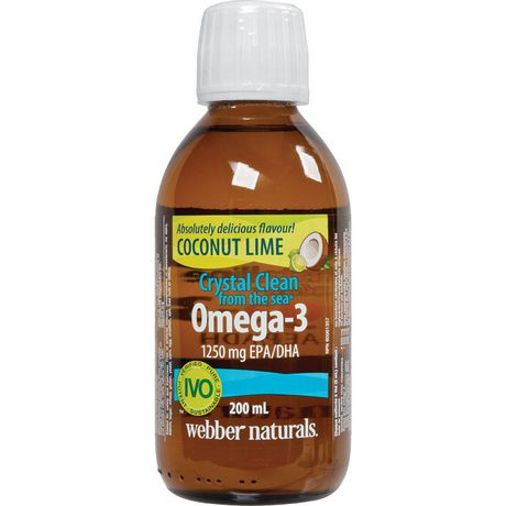 Webber naturals crystal clean from the sea omega 3 1250 for Omega 3 fish oil walmart