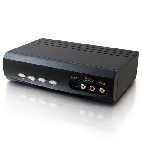 Commutateur de sélection audio/stéréo S-Vidéo 4x2 + Vidéo composite de Cables To Go - image 1 de 4