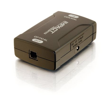 54780b193b8 Cables To Go Coaxial to TOSLINK® Optical Digital Audio Converter - image 1  of 4 ...