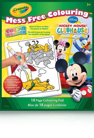 Crayola Color Wonder Mickey Mouse Clubhouse Mess Free Colouring ...