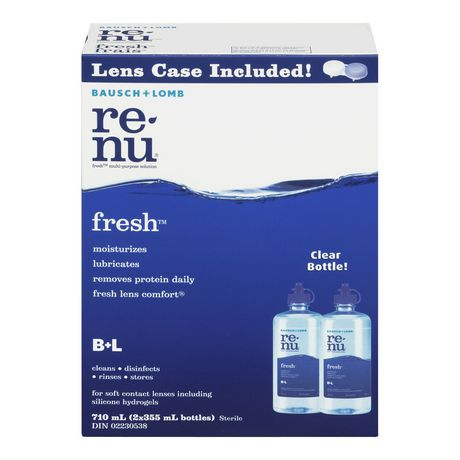 92a2711016b Bausch   Lomb Bausch + Lomb Renu Freshtm Multi-Purpose Contact Lens Solution  Twin Pack ...