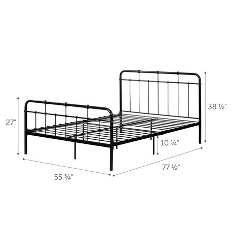 South Shore Versa Metal Complete Bed -Full-Black - image 4 of 5