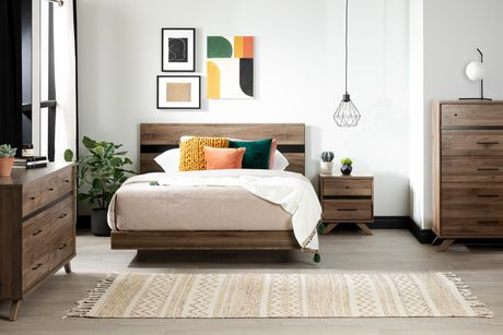 South Shore Flam 7-Drawer Double Dresser -Natural Walnut and Matte Black - image 2 of 7