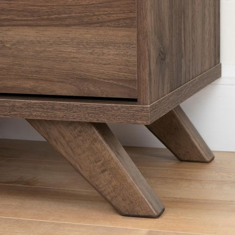 South Shore Flam 7-Drawer Double Dresser -Natural Walnut and Matte Black - image 5 of 7